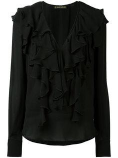 блузка с рюшами и глубоким V-образным вырезом Plein Sud