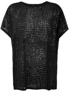 футболка T-Hanna-AB с крокодиловым узором Diesel
