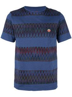 полосатая футболка с зигзагообразным узором Missoni
