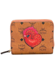 кошелек с принтом логотипом MCM
