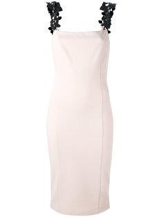 облегающее платье с лиственными элементами Cavalli Class