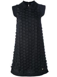 платье с цветочной аппликацией Cavalli Class
