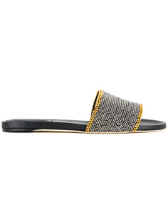сандалии с заклепками Alberta Ferretti