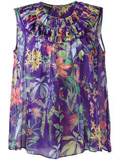 шелковая блузка с принтом Rochas