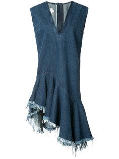 stonewashed denim V-neck dress Marquesalmeida