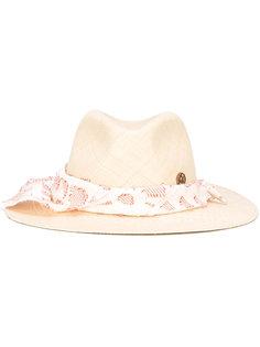 шляпа с платком вокруг тульи Maison Michel