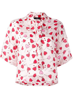 блузка с принтом сердец Diesel