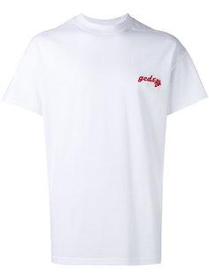 футболка с вышитым логотипом Gcds