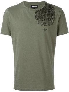 футболка с принтом отпечатка пальца Emporio Armani