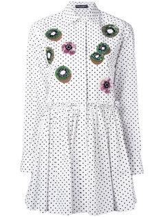 длинная рубашка с аппликацией киви Dolce & Gabbana