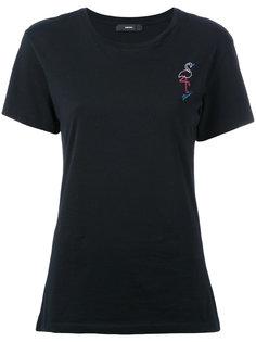 футболка с принтом фламинго Diesel