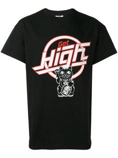 футболка с принтом get high Gcds