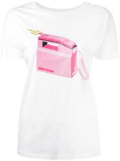 футболка с принтом телефона  Diesel