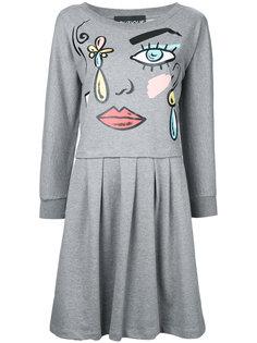 платье с принтом Cartoon Face Boutique Moschino