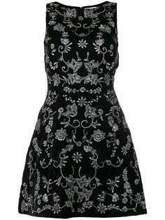 платье с вышитым цветочным узором Alice+Olivia