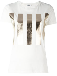 футболка с принтом металлик Jil Sander