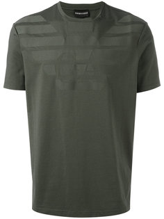 футболка с фирменным принтом Emporio Armani