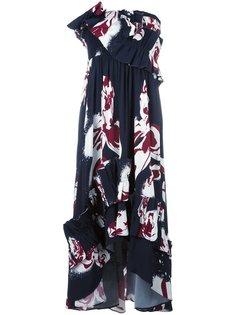 платье с оборками Cédric Charlier