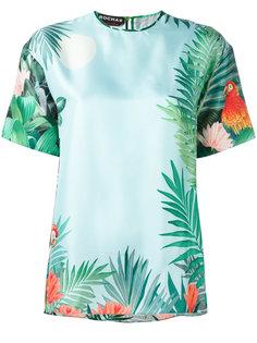 блузка с принтом джунглей Rochas