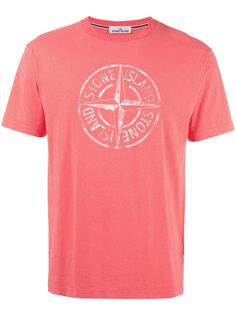 футболка с принтом-логотипом Stone Island