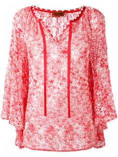 блузка с завязками на горловине Missoni