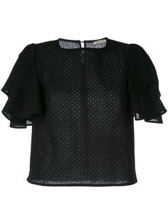 ruffle sleeve blouse Daniele Carlotta