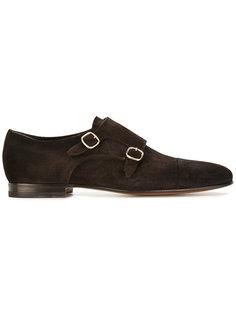 замшевые ботинки-монки Santoni