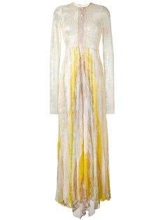 длинное кружевное платье Philosophy Di Lorenzo Serafini