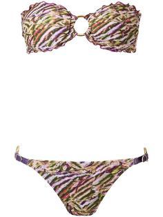 printed bandeau bikini set Amir Slama