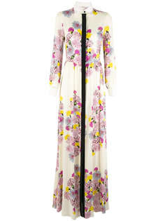 floral top-button maxi dress Daniele Carlotta