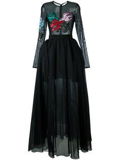 embellished sheer maxi dress Daniele Carlotta