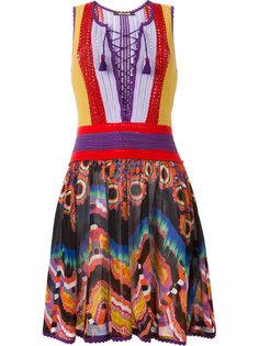 платье с вязаным лифом Roberto Cavalli