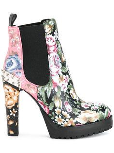 ботинки с цветочным принтом Alexander McQueen