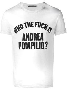 футболка who the fuck is  Andrea Pompilio