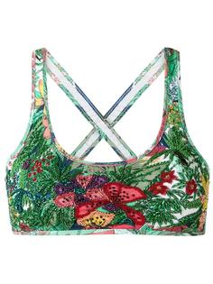 embroidered bikini top Amir Slama
