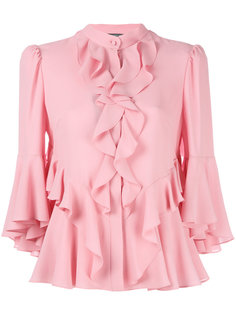блузка с рюшами Alexander McQueen