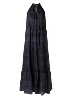 panelled long dress Amir Slama