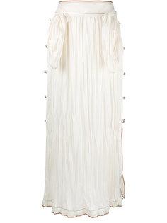 плиссированная юбка миди Loewe