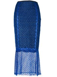 sheer fish-tail pencil skirt Daizy Shely