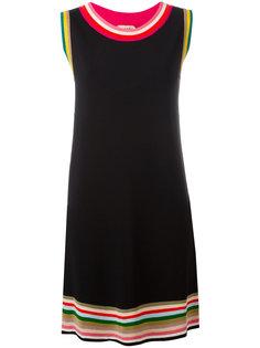 платье шифт с полосатой окантовкой Nº21