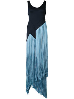 fringed long dress Galvan