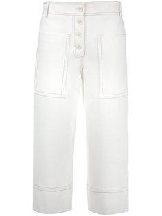 расклешенные укороченные брюки Tibi