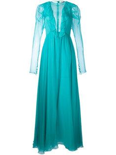 sheer ruffled maxi dress Daniele Carlotta