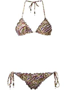 printed triangle bikini set Amir Slama