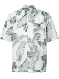 feather print shortsleeved shirt Oamc