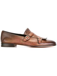 buckled fringe detail loafers Santoni