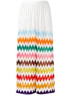 широкие брюки с зигзагообразным принтом Missoni