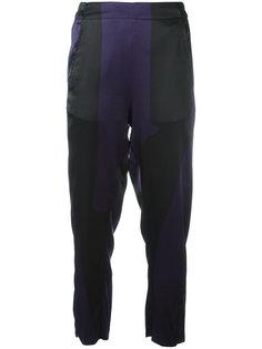 укороченные брюки с эластичным поясом Ann Demeulemeester