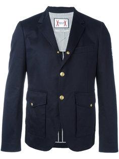 куртка с пуговицами из латуни Moncler Gamme Bleu