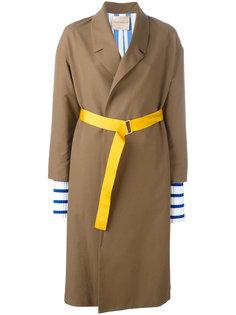 пальто с контрастным поясом Erika Cavallini